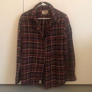 Dark red flannel
